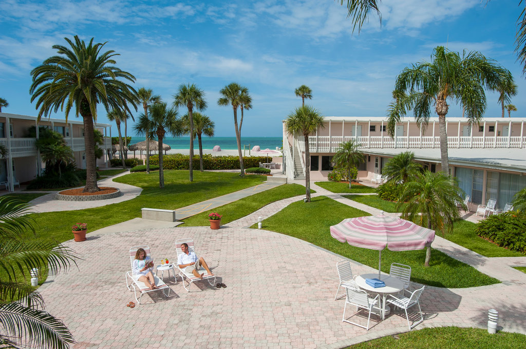 Sandcastle Resort at Lido Beach-Couple In Courtyard<br/>Image from Leonardo