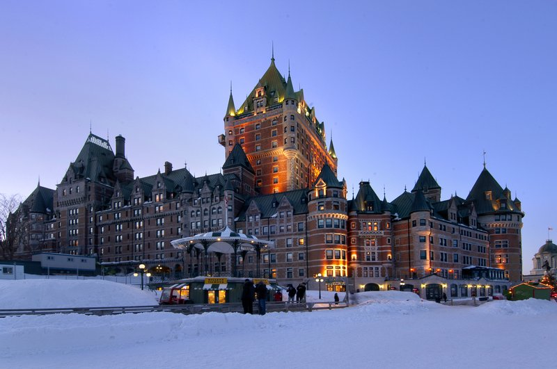 Fairmont Le Chateau Frontenac - Winter <br/>Image from Leonardo