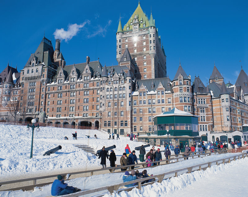 Fairmont Le Chateau Frontenac - Dufferin Terrace slides <br/>Image from Leonardo