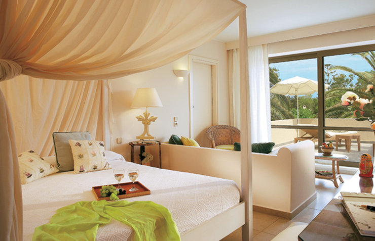 Grecotel Meli Palace-Sample Deluxe Family Bungalow -Master Bedroom -Liv<br/>Image from Leonardo