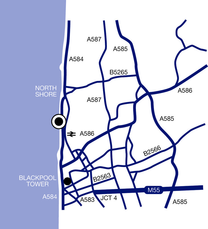 Imperial Hotel Blackpool-Location Map<br/>Image from Leonardo