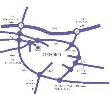 Jurys Inn Oxford-Map<br/>Image from Leonardo