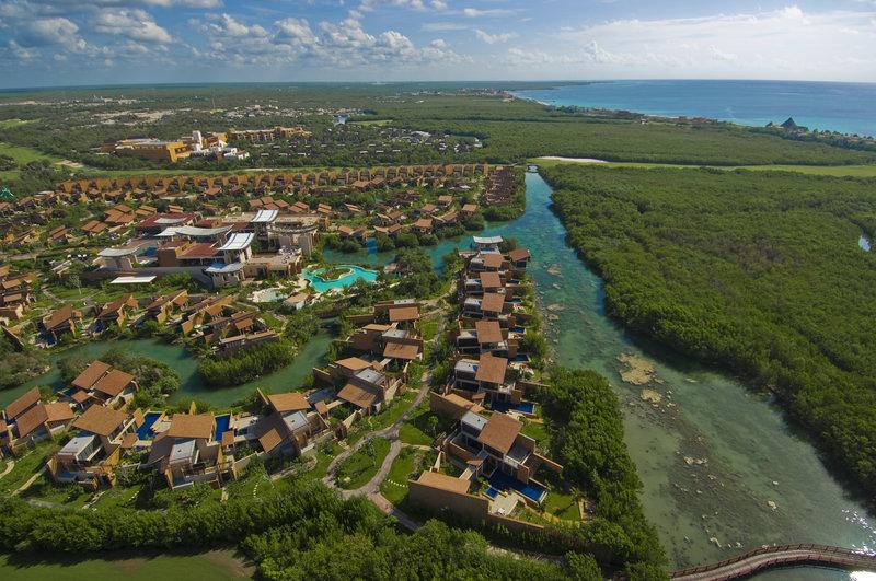 Fairmont Mayakoba - Aerial View of resort <br/>Image from Leonardo