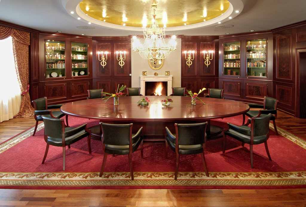 Hotel Palace Berlin - Salon with an open fireplace <br/>Image from Leonardo