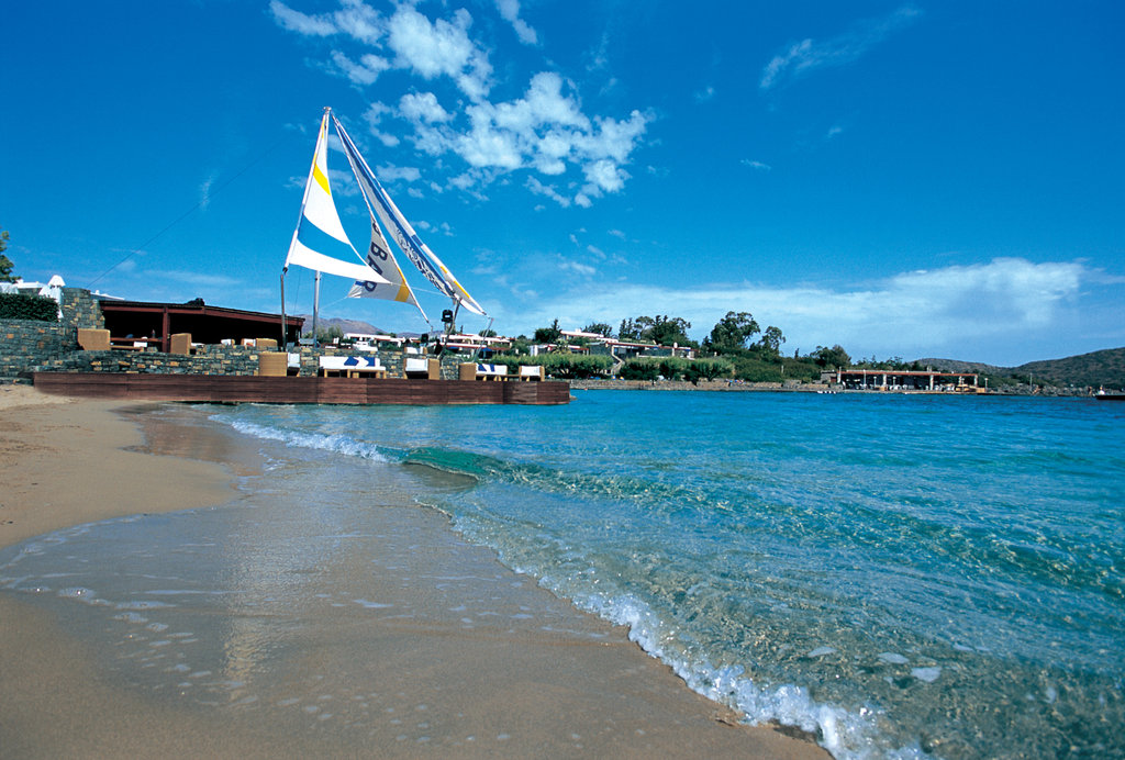 Elounda Bay Palace-Private Beach of Elounda Bay<br/>Image from Leonardo