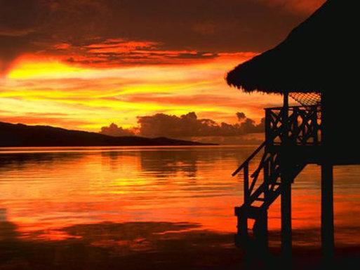 Vahine Island-Sunset in Paradise<br/>Image from Leonardo