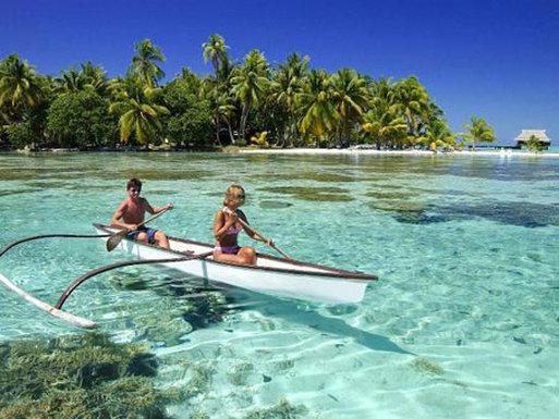 Vahine Island-Outrigger Canoe<br/>Image from Leonardo