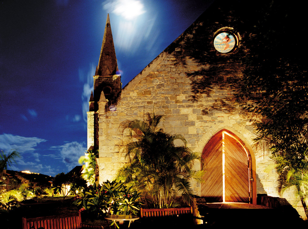 Young  Island  Resort-17th Century Church<br/>Image from Leonardo