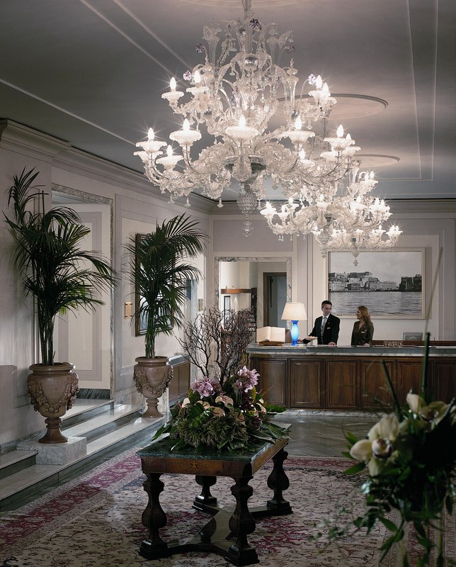 Grand Hotel Vesuvio Naples-Reception desk<br/>Image from Leonardo