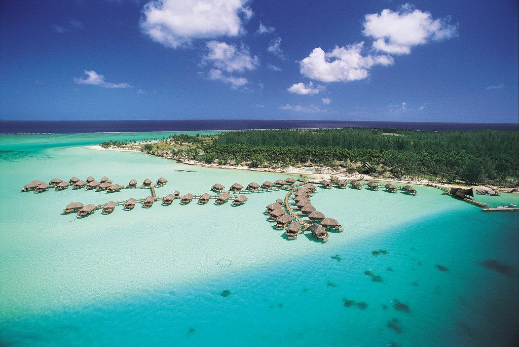 Bora Bora Pearl Beach Resort-Aerial View Front<br/>Image from Leonardo