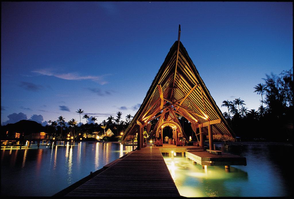 Bora Bora Pearl Beach Resort-Arrival Pontoon<br/>Image from Leonardo