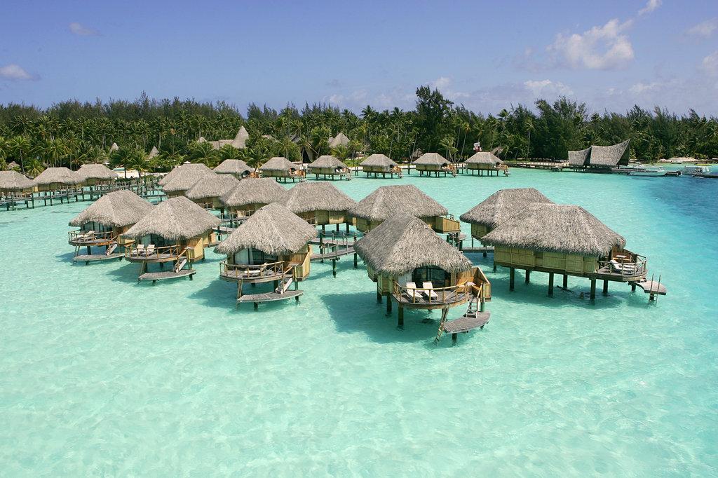 Bora Bora Pearl Beach Resort-Aerial View<br/>Image from Leonardo