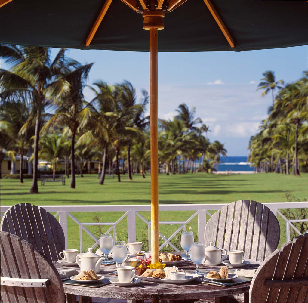 Nisbet Plantation-Afternoon Tea on the Great House Patio, overlookin<br/>Image from Leonardo