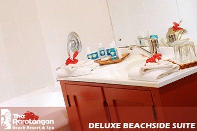 Manuia Beach Resort-Deluxe Beachside Suite Bathroom<br/>Image from Leonardo
