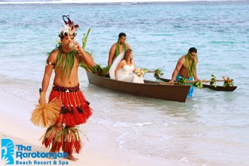 Crown Beach Resort-Bride Arriving to the Ceremony in Traditional Vaka<br/>Image from Leonardo