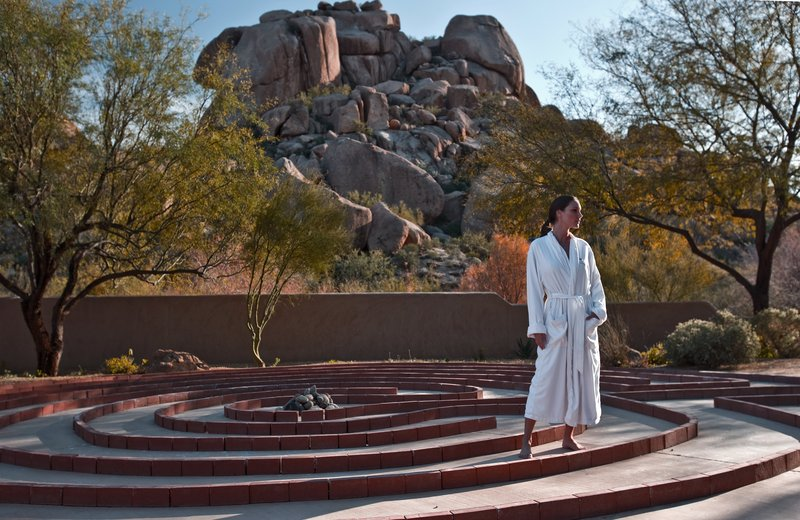 Boulders Resort & Spa, Curio Collection by Hilton-The Golden Door Spa Labyrinth - Shelby - 01/08<br/>Image from Leonardo