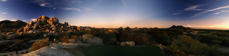Boulders Resort & Spa, Curio Collection by Hilton-Golf 8 South sunset. Shelby 01/08<br/>Image from Leonardo