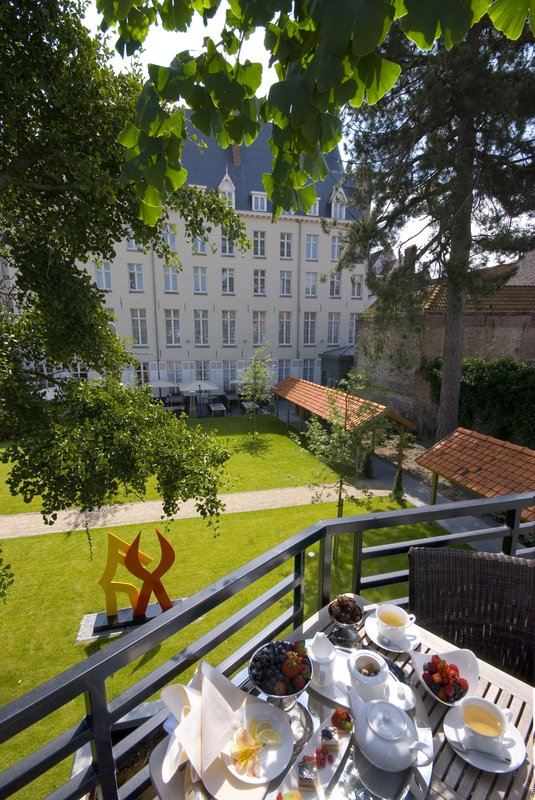 HOTEL DUKES PALACE BRUGES-Privat Balcony Of The Filips De Goede Suite<br/>Image from Leonardo