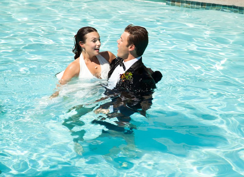 Boulders Resort & Spa, Curio Collection by Hilton-Wedding couple in Lodge Pool - Sams - 07/10<br/>Image from Leonardo