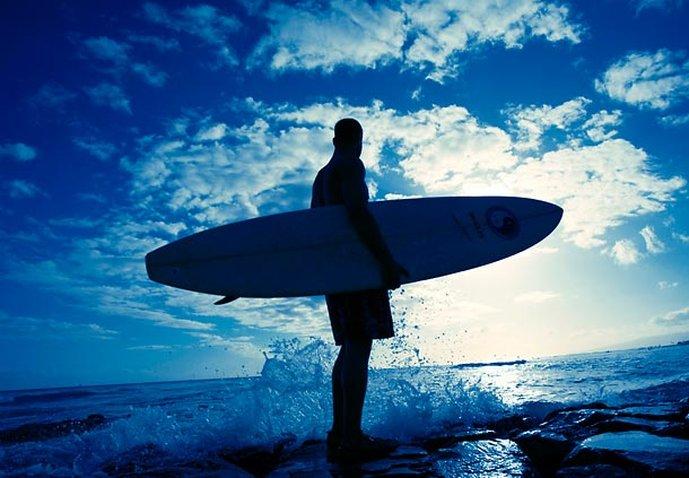 Waikiki Beach Marriott Resort  - Surfing at Sunset <br/>Image from Leonardo