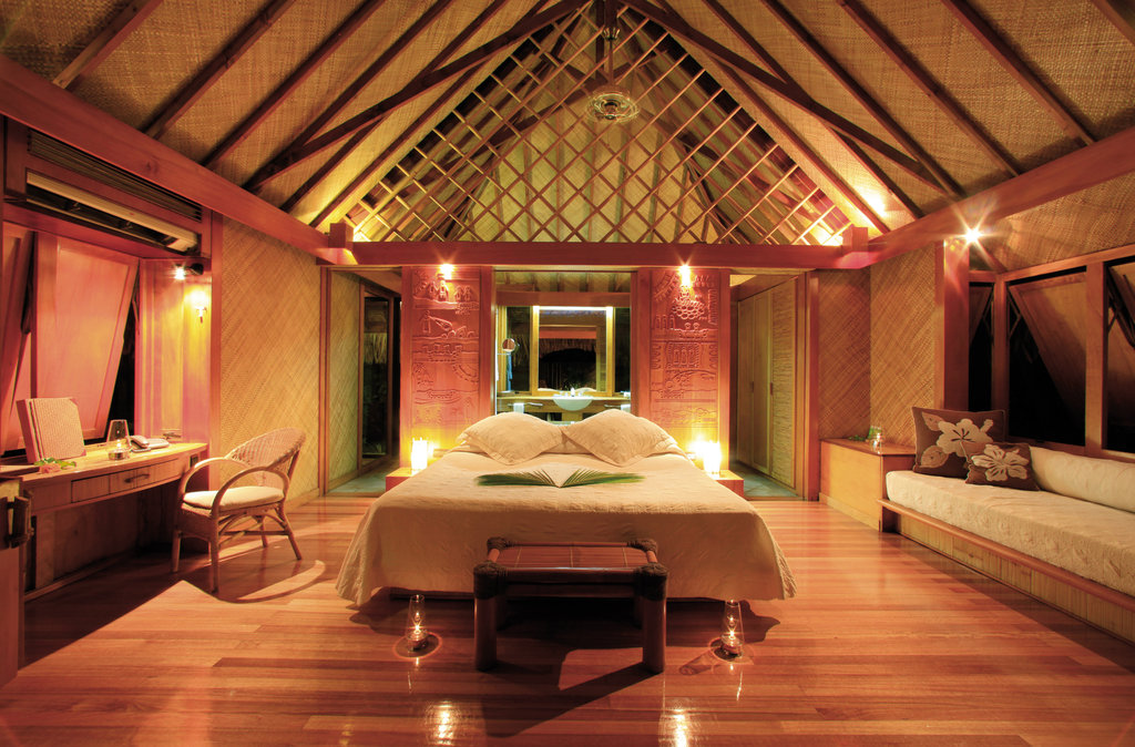 Bora Bora Pearl Beach Resort-Garden Pool Bungalow Interior<br/>Image from Leonardo
