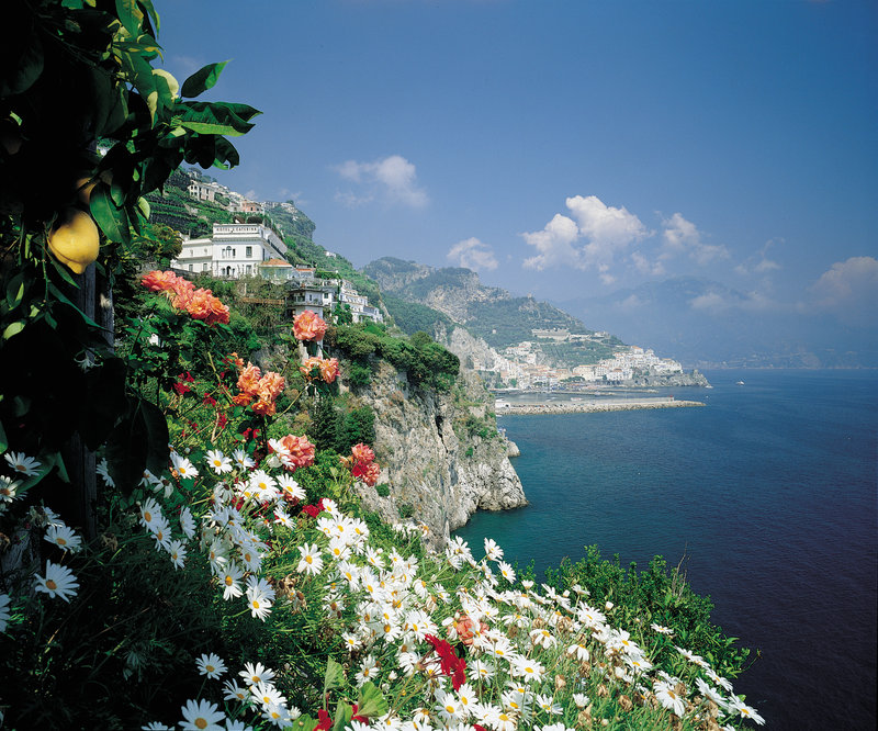 Santa Caterina Hotel-View From The Lemon Gardens<br/>Image from Leonardo