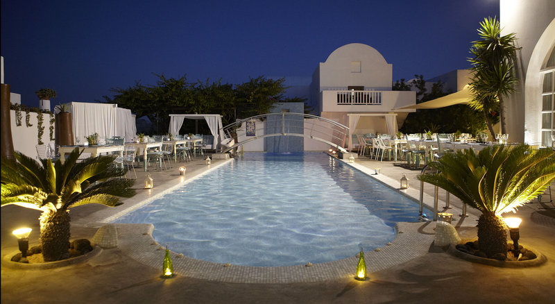 Aressana Spa Hotel & Suites-Wedding Set Up at Pool Area By Night<br/>Image from Leonardo