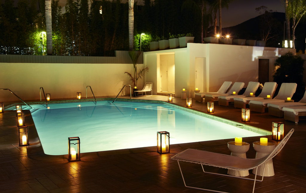 Hotel La Jolla, Curio Collection by Hilton-Pool at Dusk<br/>Image from Leonardo