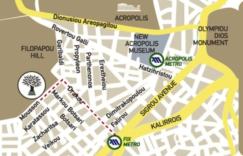 Acropolis Hill Hotel-Metro Station<br/>Image from Leonardo