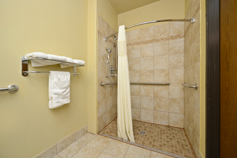Best Western Plus Tulsa Inn  Suites-Mobility Accessible Guest Bathroom<br/>Image from Leonardo