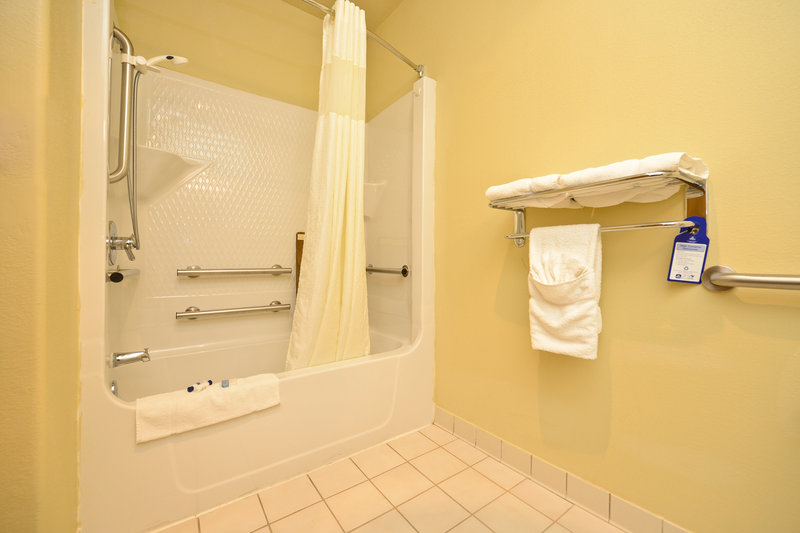 Best Western Plus Tulsa Inn  Suites-Mobility Accessible Guest Bathroom w/ Tub & Shower<br/>Image from Leonardo