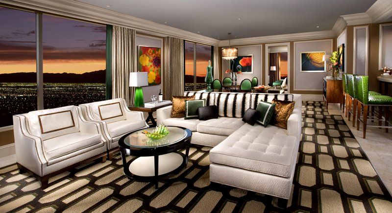 Bellagio - Penthouse Suite Living Room <br/>Image from Leonardo
