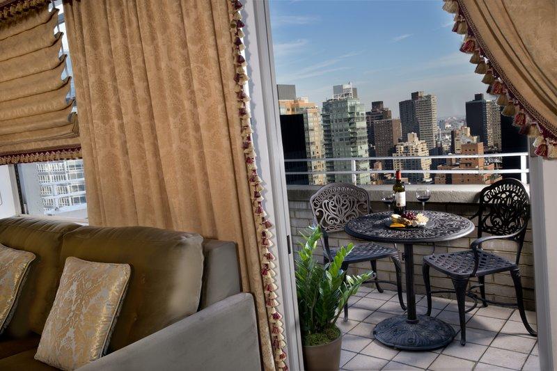 Kimberly Midtown Apartments-A-line balcony View at The Kimberly Hotel New York<br/>Image from Leonardo