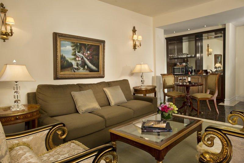 Kimberly Midtown Apartments-Living Room at The Kimberly Hotel New York<br/>Image from Leonardo