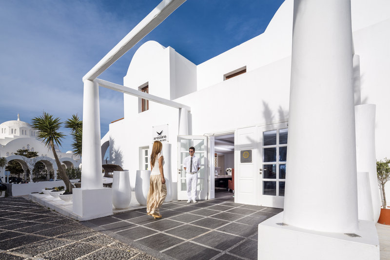 Aressana Spa Hotel & Suites-Open Entrance to Lobby.Welcome to Aressana<br/>Image from Leonardo