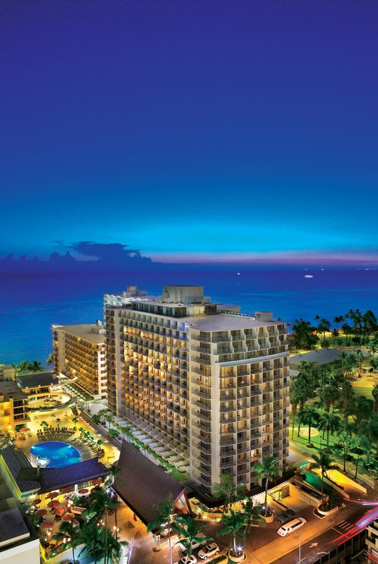 Outrigger Reef Waikiki Beach Resort - Outrigger Reef Waikiki Beach Resort Exterior Dusk <br/>Image from Leonardo