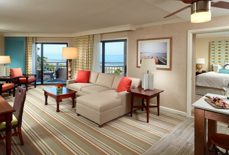 Omni Hilton Head Oceanfront Resort-Luxury Oceanfront Suite Living Room<br/>Image from Leonardo