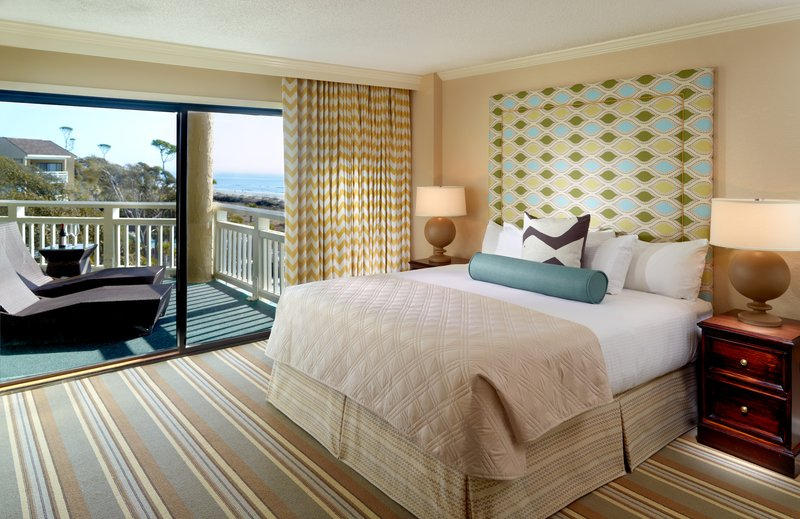 Omni Hilton Head Oceanfront Resort-Luxury Oceanfront Suite Bedroom<br/>Image from Leonardo