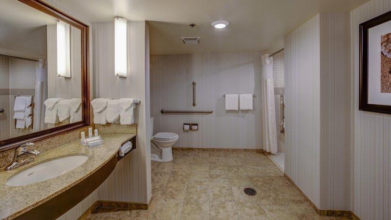 Hilton Garden Inn Virginia Beach Oceanfront-Accessible Bathroom with Roll-In Shower<br/>Image from Leonardo