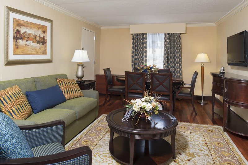 DoubleTree by Hilton Grand Rapids Airport-King Bed Junior Suite Living Area<br/>Image from Leonardo