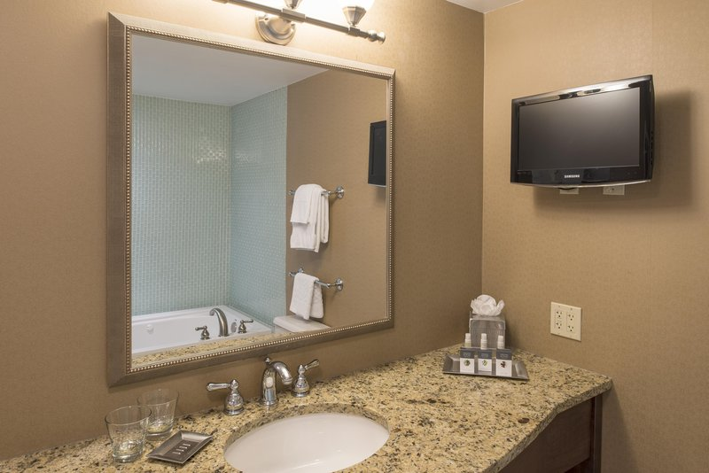 DoubleTree by Hilton Grand Rapids Airport-King Bed Junior Suite Bathroom<br/>Image from Leonardo