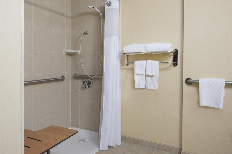 DoubleTree by Hilton Grand Rapids Airport-Accessible Roll-in Shower<br/>Image from Leonardo