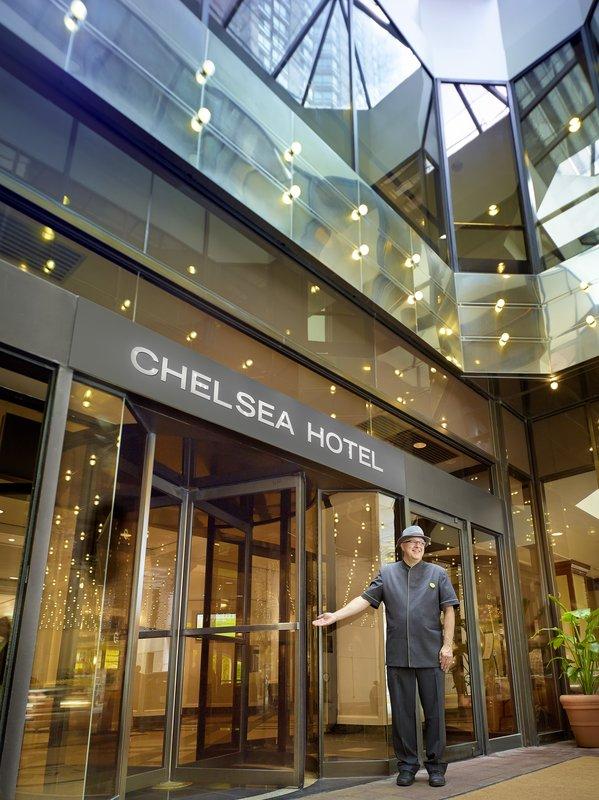 Chelsea Hotel Toronto-Bay Entrance Doorman<br/>Image from Leonardo