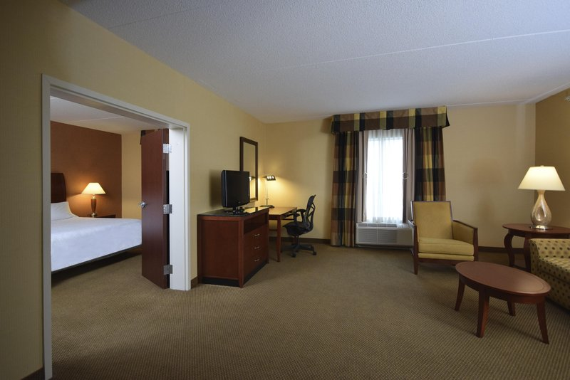 Hilton Garden Inn Dayton Beavercreek-1 King 1 Bedroom Suite Living Area<br/>Image from Leonardo