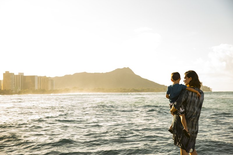 Outrigger Reef Waikiki Beach Resort - Outrigger Reef Waikiki Beach Resort Beach Family <br/>Image from Leonardo