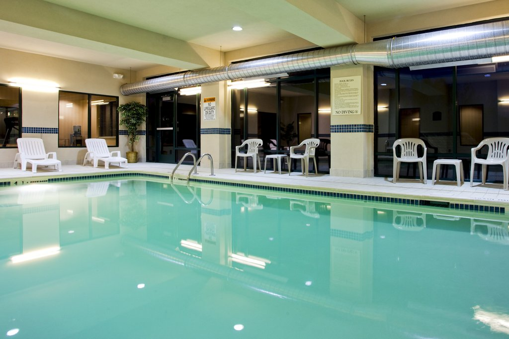 Holiday Inn Express Syracuse Airport-Indoor pool great for a winter getaway or youth sports team fun<br/>Image from Leonardo