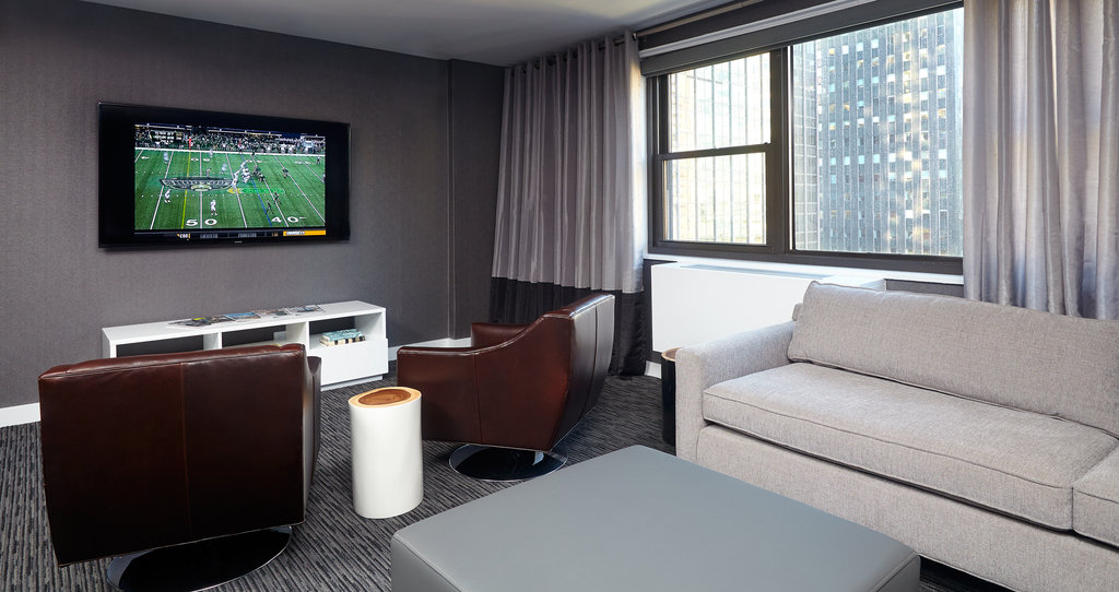 222 The Nash Apartments-Upstairs Common Lounge The Nash With TV<br/>Image from Leonardo