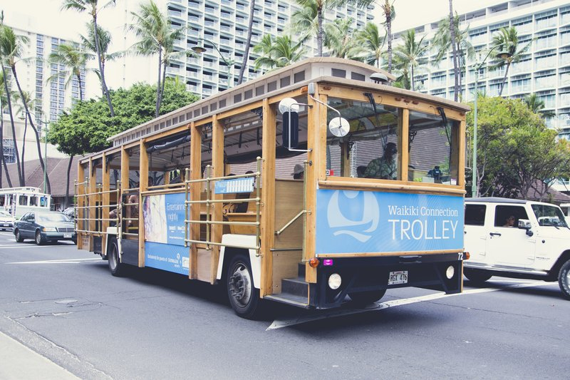 Outrigger Reef Waikiki Beach Resort - Outrigger Resorts Waikiki Connection Trolley <br/>Image from Leonardo
