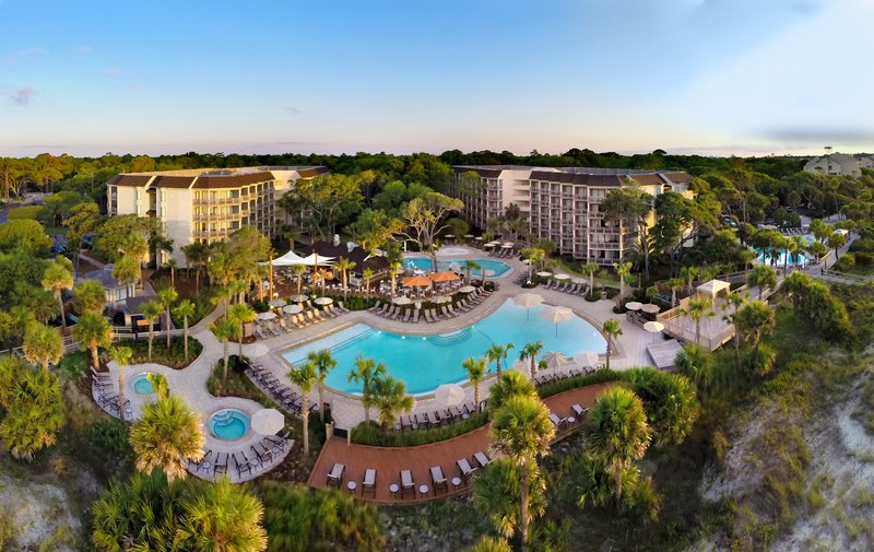 Omni Hilton Head Oceanfront Resort-Aerial view of Omni Hilton Head Oceanfront Resort<br/>Image from Leonardo
