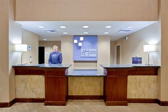 Holiday Inn Express Hotel & Suites North Sequim-Sequim Hotel Front Desk<br/>Image from Leonardo
